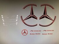 Tamiya 1/14 Merc Decals Kit Cab Mercedes Badge