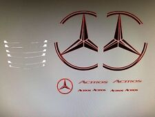 Tamiya 1/14 Merc Decals Kit Cab Mercedes Badge