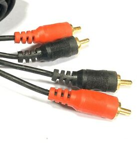 2 Phono - 2 Phono Shielded Pro TWIN RCA Male to Male Audio Lead 10M Cable Gold