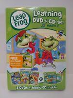 NEW SEALED LeapFrog: Learning DVD Set, Vol. 2 (DVD, 2010, 4-Disc Set, DVD/CD)