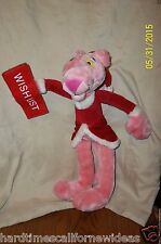 LARGE 2002 PINK PANTHER PLUSH CHRISTMAS WISH LIST DOLL 15""