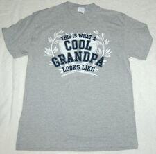 Mens Tee Shirt Medium 38-40 Grey THIS IS WHAT A COOL GRANDPA LOOKS LIKE