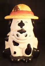 VINTAGE COW WITH HAT COOKIE JAR CERTIFIED INTERNATIONAL CORP HARD TO FIND NICE