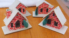 Rare Lot of Brick Christmas Vintage Japan Village Houses Holiday w/Trees & Deer