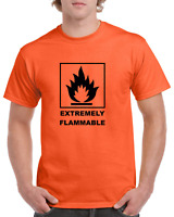 Extremely Flammable Chemical Symbol Funny Heavy Cotton shirt ALL SIZES SMALL XL