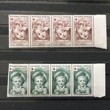 Lot 8 Timbres Neufs Anciens Croix Rouge Fragonard 1962 No Carnet
