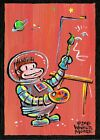 """Original Walter Moore Space Ape Artist 010 Painting A Day Acrylic 5 x 7"""""""