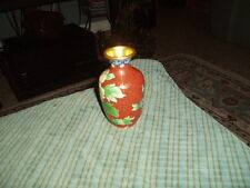 "Vintage Flowered Chinese Cloisonne Mini Vase 4"" W/ Damage !"