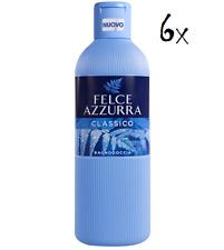 6x Felce Azzurra Classico Badeschaum Schaumbad 650 ml bath shower foam