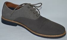ALDO MEN'S GIAWIEL TWO-TONED OXFORD DARK GREY SUEDE / LIGHT GREY CANVAS SIZE 12