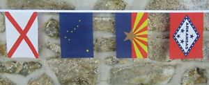 US State Flags Polyester Bunting - All 50 States