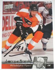 JAMES VAN RIEMSDYK SIGNED 10-11 UPPER DECK PHILADELPHIA FLYERS CARD AUTOGRAPH!!!