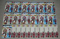 Lot 1985 GI Joe Cobra Crimson Guard v1 Set Figures Complete w/ File Card Backs