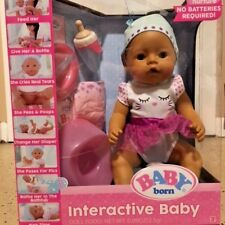New Baby Born Interactive Baby Doll - Green eyes