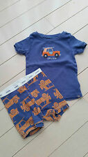 BABY GAP BOY SURFIN' SAFARI CAR PRINT PYJAMA SET BLUE 12-18 MONTHS