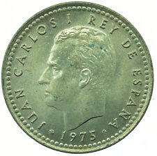 COIN / SPAIN / 1 PESETA 1975 UNC FULL LUSTRE BEAUTIFUL COLLECTIBLE   #WT31663