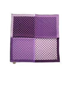 NWT Eggplant Four Color With Dot Silk Pocket Square, $29.50