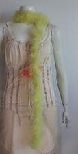 NWOT Yellow Marabou Boa Halloween Burlesque Dance Costume 6 feet 25 gms b16