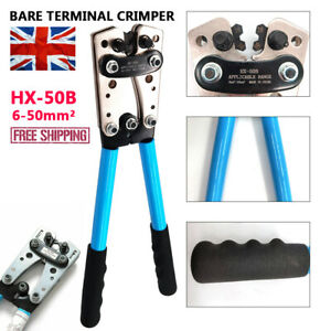 6-50mm² Hydraulic Crimper Crimping Tool Dies Wire Battery Cable Wire Terminal