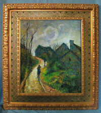 Handmade Camille Pissarro Oil Painting repro Ascending Path in Osny