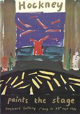 Authorised David Hockney 1985 Exhibition Poster (YBA) + Hirst Banksy Emin Kaws
