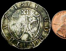 S771: 1653 Cromwell's Commonwealth Hammered Silver Shilling - no stops at Sun