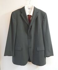mens green HUGO BOSS jacket blazer sport coat wool blend natural stretch 42R