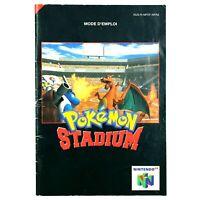 Notice jeu N64 Pokemon Stadium Nintendo 64 Livret Instruction Manuel PAL FRA