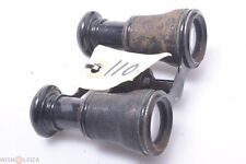French, English? Antique Brass,Metal Small Size Binoculars Fairly Good Condition