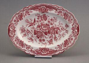 """Platte oval 31x23cm """"Bristol"""" von Crown Ducal  england rot"""