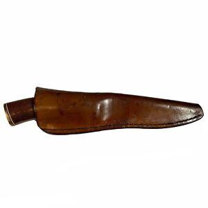 "10"" IRBI Knife Horn Handle w/ Sheath Hand Made by Irvin Campbell Alaska Bush"