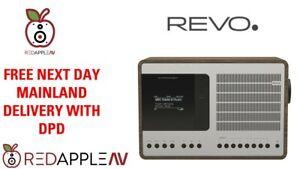 REVO SuperConnect DAB+ FM Radio with BT Spotify Silver/Walnut FREE Delivery