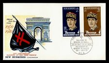 Dr Who 1970 New Hebrides Free French Rally 30Th Anniversary Fdc C202379