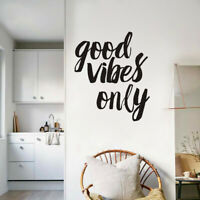 Good Vibes Only Wall Sticker Vinyl Quote Letter Decal Office Home Room Decor