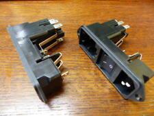 SCHURTER  KG10.6101.151 Qty of 2 per Lot AC Power Entry Modules SCREW-IN 2-POLE