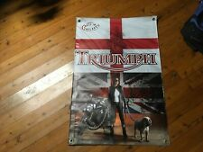 triumph motor cycles poster print home decor wall hanging Bar banner man cave