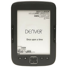 "DENVER ELECTRONICS EBO-610L E-BOOK READER MIT 6""/15,24 CM E-INK DISPLPAY _ NEU"