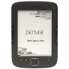 "DENVER ELECTRONICS EBO-610L E-BOOK READER MIT 6""/15,24 CM E-INK DISPLPAY _ NEU"