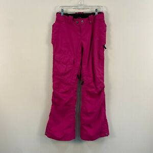 The North Face Womens Medium Ski Snowboard Pants Pink Insulated Vented OSC46