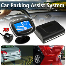 Parking 8 Sensors Car Reverse Backup Rear Buzzer Radar System Alarm w/ Monitor