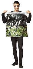 Bag Of Weed Pot Leaf Ganja Mon Marijuana Adult Costume Halloween Rasta Imposta