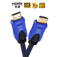 1.8M HDMI Cable High Speed HDMI Male to Male v2.0 Braided Ultra HD 4K 2160p Lead