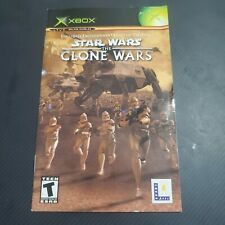 Star Wars The Clone Wars Original XBOX MANUAL ONLY NO GAME OR CASE