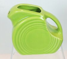 "Fiesta CHARTREUSE Mini Disk Pitcher Creamer NOS 3-1/4"" Tall Retired Color"