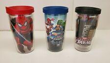 Tervis Tumbler Marvel Comics Spider-Man & Super Hero Squad 16oz cup LID Set of 3