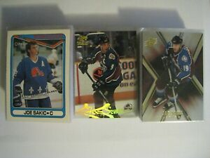 Joe Sakic 1990-91 thru 2008-09 hockey cards ONLY $1.00 EACH - YOU PICK FROM LIST