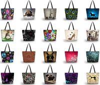 Women Shopping Bag Daily Tote Shoulder Handbag Outdoor Travel Folding Satchel