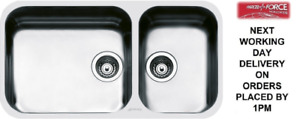 Smeg Alba (UM4530) 2.0 Double Bowl Undermount Stainless Steel Sink - Brand New
