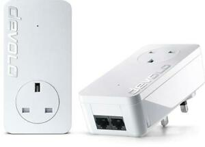 Devolo DLAN 550 DUO+ Ethernet LAN Network Adapter - Twin Pack - Up To 500Mbps