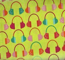 Beatbox bright headphones Kaufman fabric